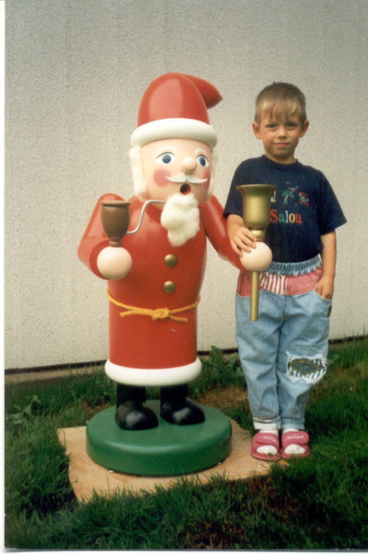 4 Räuchermann Weihnachtsmann 100 cm