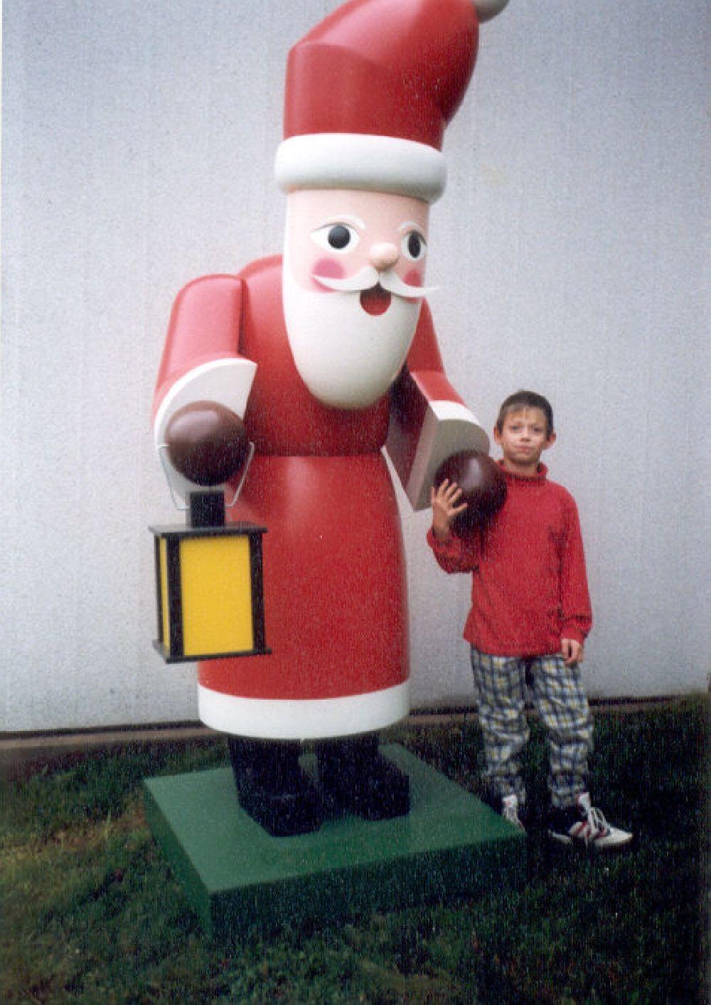 21 Räuchermann Weihnachtsmann 180 cm