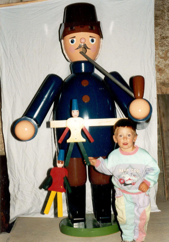 40 Räuchermann Spielwarenhändler 180 cm