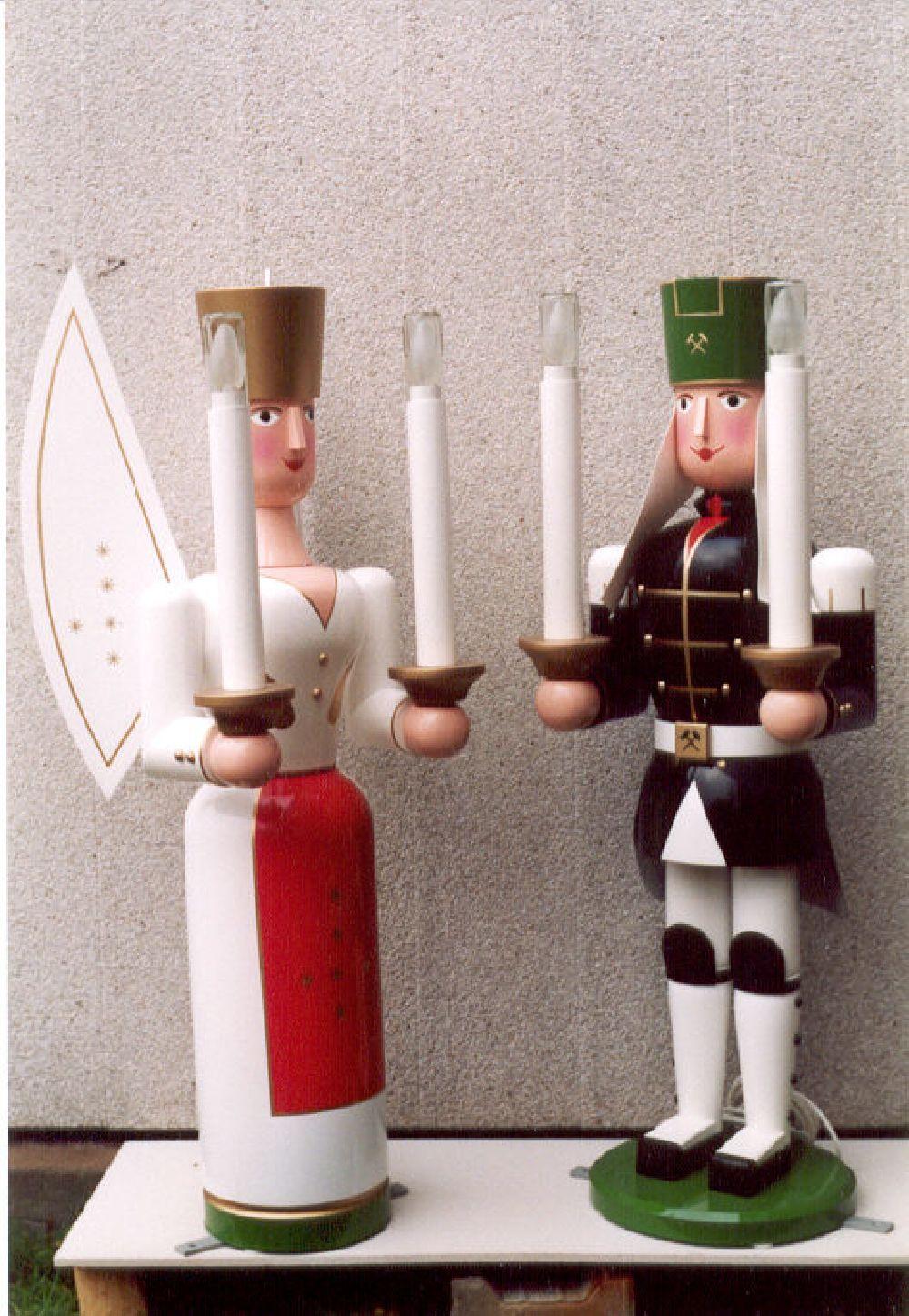2 Bergmann und Engel 100 cm