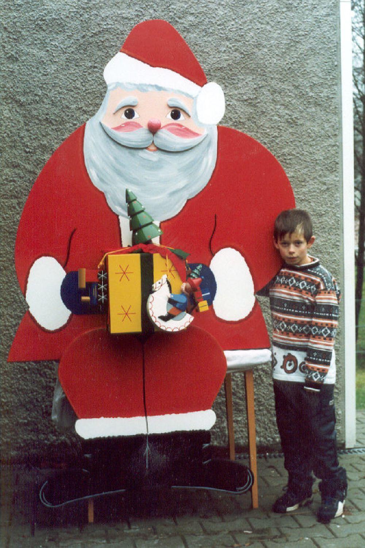 8 Weihnachtsmann flach 150 cm